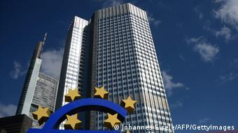 The headquarters of the European Central Bank AFP PHOTO / JOHANNES EISELE