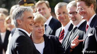 Werner Faymann and Angela Merkel in Vienna
