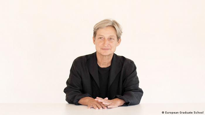 Prof. Judith Butler lecturing at European Graduate School. 2009. Copyright: European Graduate School.