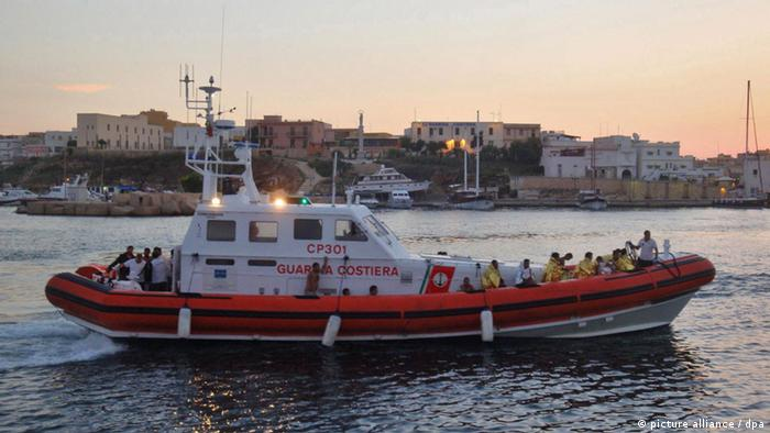 A previous rescue off Lampedusa, Italy, 07 September 2012. Photo: EPA/GUARDIA COSTIERA / HANDOUT