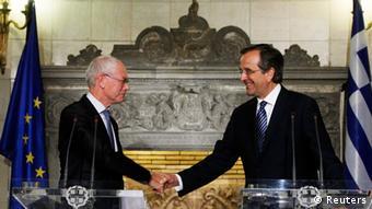 Griechenland Athen Troika Samaras Van Rompuy