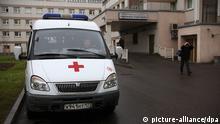 Krankenhaus Moskau Russland Krankenwagen Krankentransport Mitarbeiter
