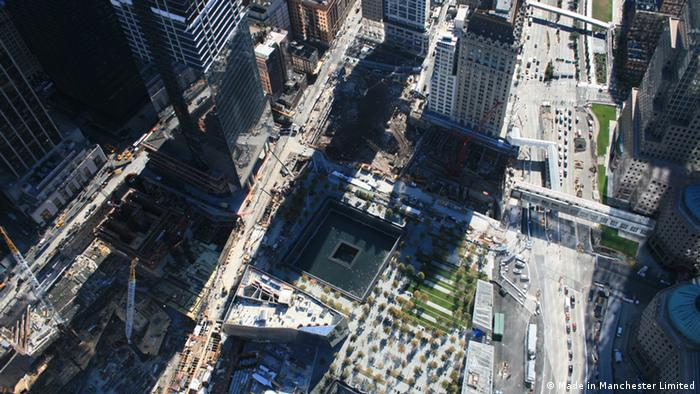 The 9/11 Memorial, seen from above