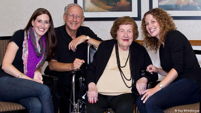 Ethan Bensinger with his daughters Jennifer (left) and Karen (right) and his mother Rachel