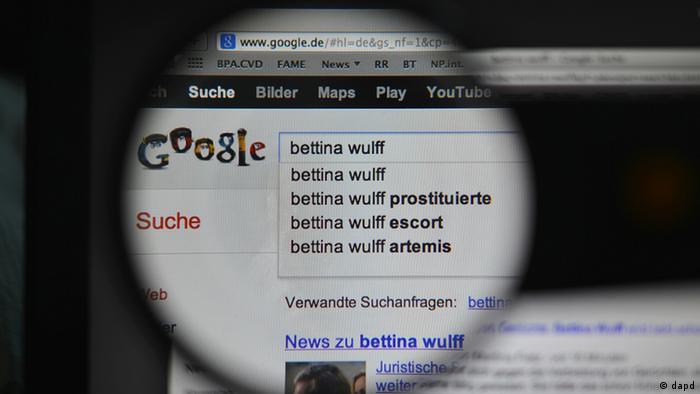 Bettina Wulffs Kampf gegen Google   Deutschland   DW   10 09