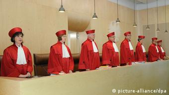 The judges in their red robes