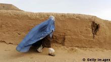 Afghanische Frau mit Burka