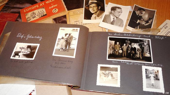 Adelheid Struck's photo-album from the 1930s. Private collection of Dr. Michael Naveh. Photo: DW/Aya Bach Date: August 2012