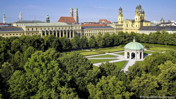Jardim do palácio Münchner Residenz