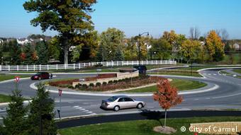 A roundabout in Carmel Photo: City of Carmel