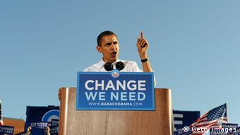 Democratic presidential nominee U.S. Sen. Barack Obama (D-IL) speaks during a rally at Progress Plaza October 11, 2008 in Philadelphia, Pennsylvania (Photo by Jeff Fusco/Getty Images)