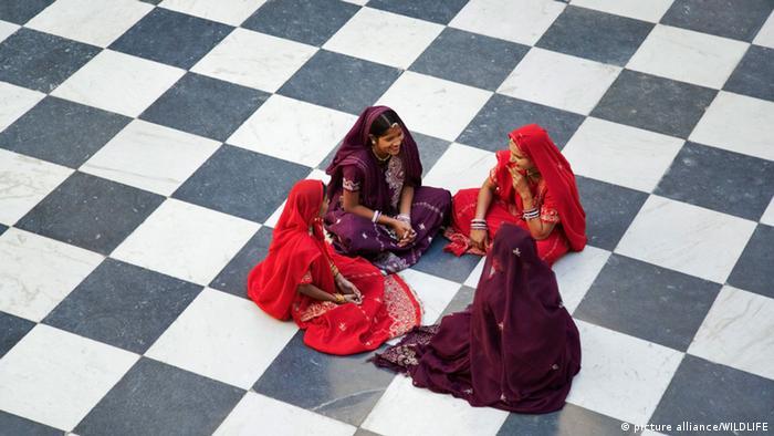 Indien Frauen Mädchen Sari