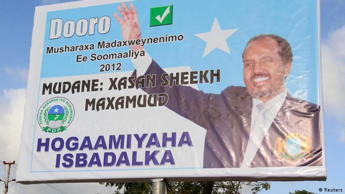 Wahlplakat Hassan Sheikh Mohamud (Foto: REUTERS/Feisal Omar)