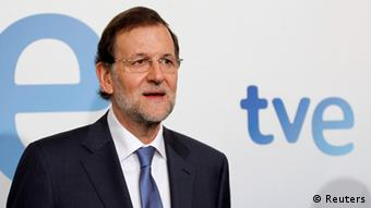 Spanien Premierminister Rajoy TV Interview