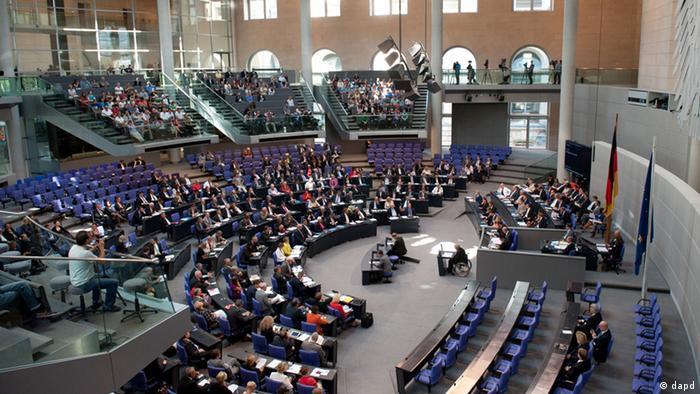 Бюджетные дебаты в бундестаге
