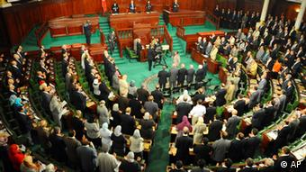 Tunisia's newly elected assembly holds its inaugural meeting Tuesday, November 22, 2011 (Hassene Dridi/AP/dapd)