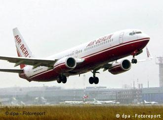 Air Berlin airplane taking off