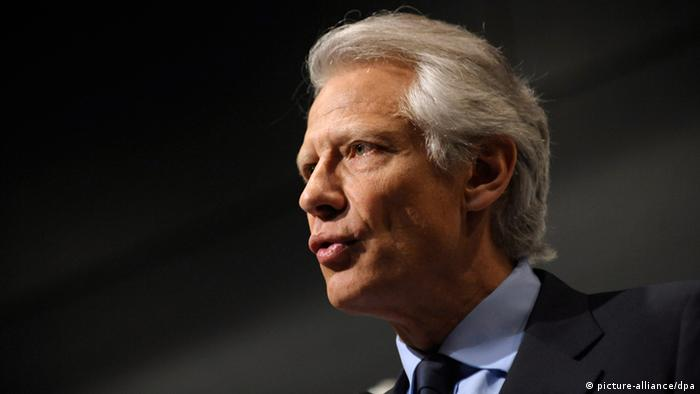 French former Prime Minister and right-wing party leader of 'United Republic' (Republique solidaire) Dominique de Villepin