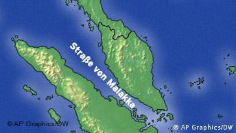 Karte Straße von Malakka