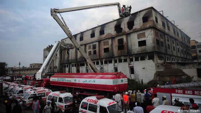 Fabrikbrände in Pakistan