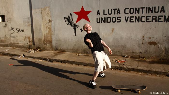 Jorge Agostinho vive em Maputo e gosta de andar de skate