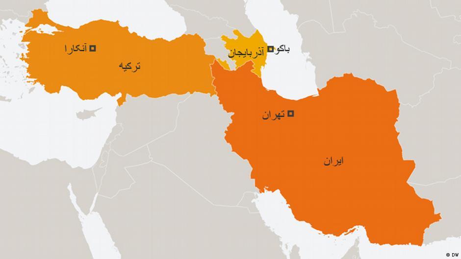 Karte Iran Türkei Aserbaidschan Persisch