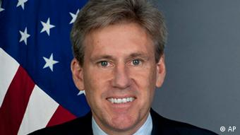 Undated photo released by the US State Department shows Ambassador to Libya J. Christopher Stevens in an official portrait. Photo:U.S. State Department/AP/dapd
