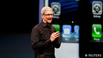 Apple CEO Tim Cook introduces the iPhone 5 (Reuters/Beck Diefenbach)