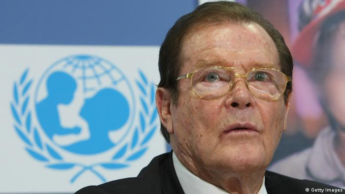 Roger Moore at the UN (Photo: Getty Images)