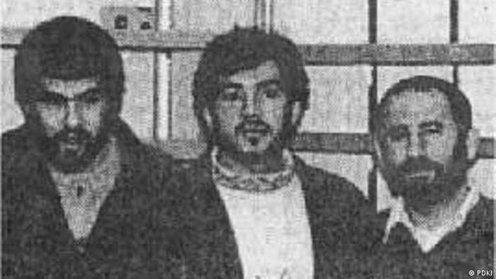 سه عضو کمیته ترور جمهوری اسلامی در برلین که عملیات ترور را اجرا کردند. کاظم دارابی (سمت راست)