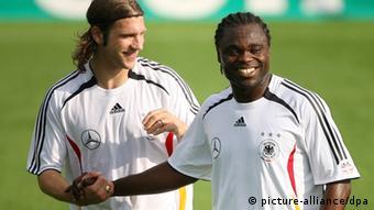 Torsten Frings i Gerald Asamoah u dresu njemačke reprezentacije