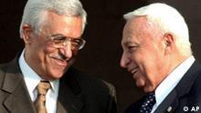 Machmud Abbas und Ariel Scharon