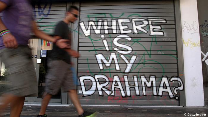 Griechenland Graffiti Wo ist meine Drachme