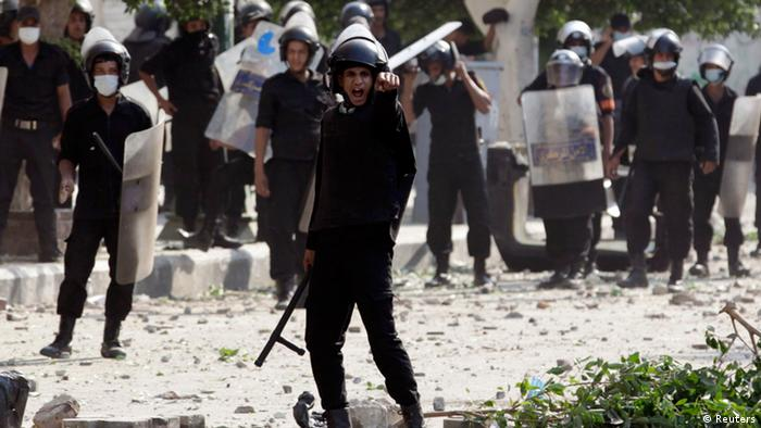 Riot police near the US embassy in Cairo, September 13, 2012. Photo: REUTERS/Mohamed Abd El Ghany