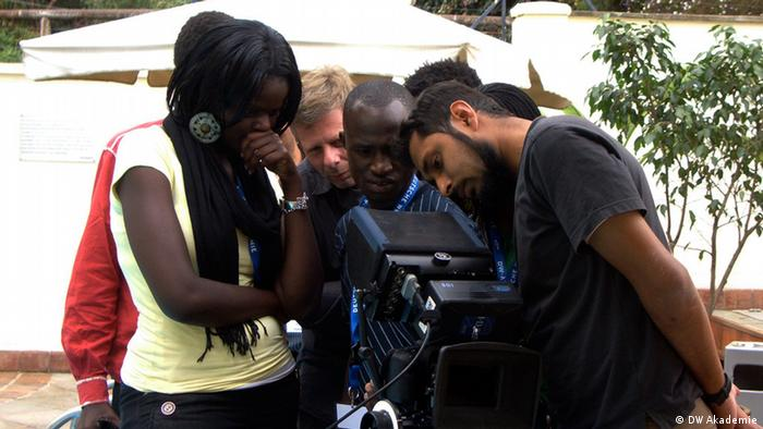 Participants of a One Fine Day Film workshop in Nairobi, Kenya (photo: DW Akademie).