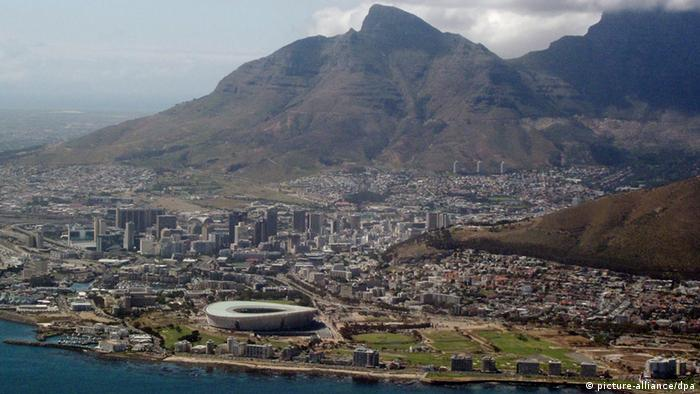 An aerial view of Cape Town city centre