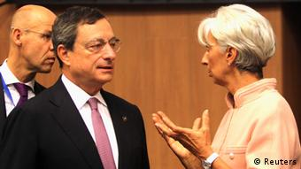 IMF Managing Director Christine Lagarde and European Central Bank (ECB) President Mario Draghi REUTERS/Andreas Manolis (CYPRUS - Tags: POLITICS BUSINESS)