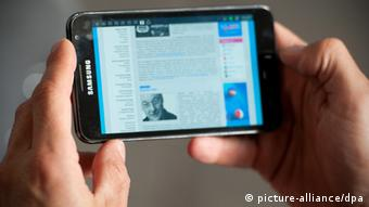 Samsung smartphone Foto: Sebastian Kahnert