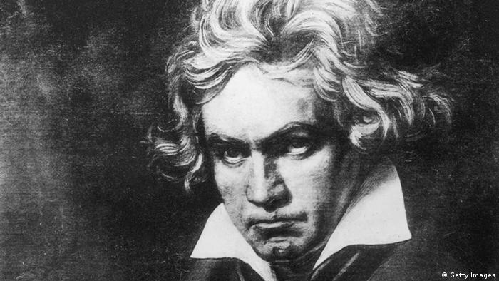 Ludwig Van Beethoven (1770 - 1827), German composer, regarded as on of the greatest Romantic composers. Original Artwork: Painting by Steiler. (Photo by Rischgitz/Getty Images)