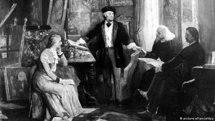 Richard Wagner mit Ehefrau Cosima