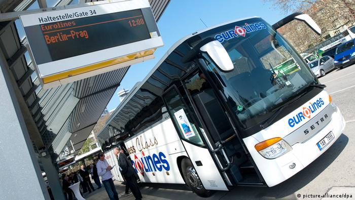 Автобус Eurolines в Берлине