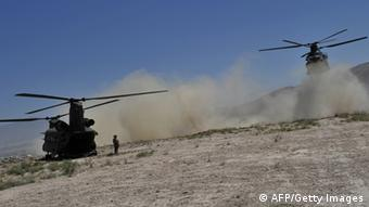 NATO helicopters; Photo: MASSOUD HOSSAINI/AFP/GettyImages