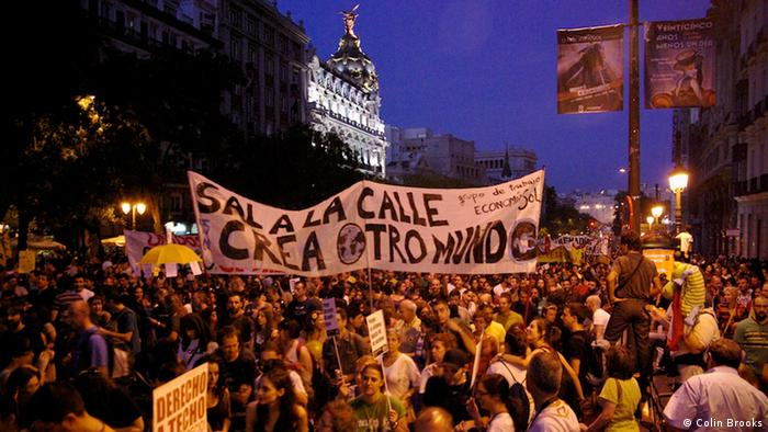 Protesters on Madrid's Puerta del Sol Square in May 2011