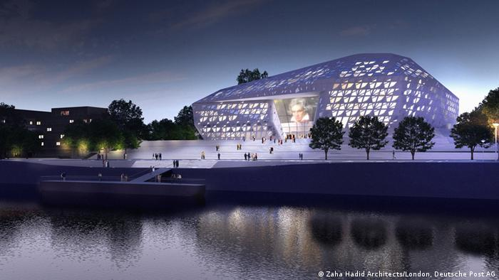 Sketch for a new festival concert hall in Bonn, by architect Zaha Hadid
