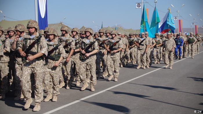 Военнослужащие из Центральной Азии на учениях ОДКБ в Армении