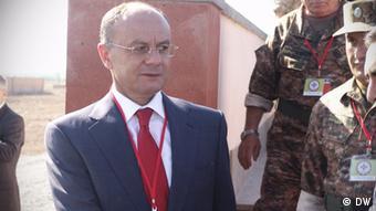 Министр обороны Армении Сейран Оганян на учениях