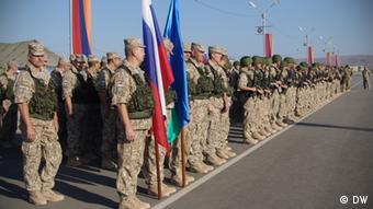 Российские военные на учениях ОДКБ в Армении