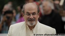 Sept. 9, 2012 - Toronto, Ontario, Canada - Famed writer SALMAN RUSHDIE attends the red carpet gala for 'Midnight's Children' at Roy Thompson Hall during the 2012 Toronto International Film Festival