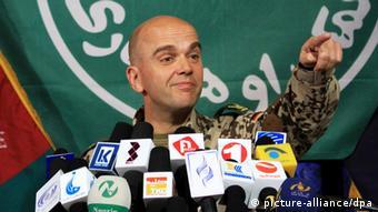 International Security Assistance Forces (ISAF), German Brigadier General Guenter Katz spokesman. Photo: EPA/S. SABAWOON +++(c) dpa - Bildfunk+++