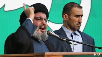 Nasrallah at the demo Photo:Hussein Malla/AP/dapd